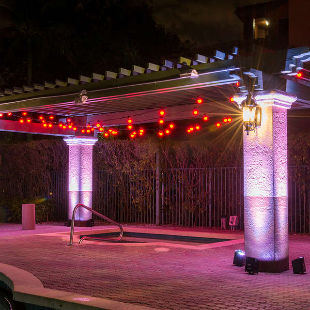 Festoon LED Color Bistro Lighting